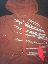 Mens Oakley Coat Jacket Soft Shell Softshell Cotton Maroon Logo Small S Airbrake
