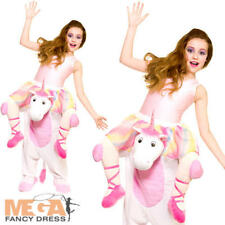 Carry Me Unicorn Kid Fancy Dress Fantasy Animal Story Book Day Childrens Costume