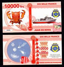 ILE JUAN DE NOVA ● TAAF / COLONIE ● BILLET POLYMER 10000 FRANCS ★ N.SERIE 000008