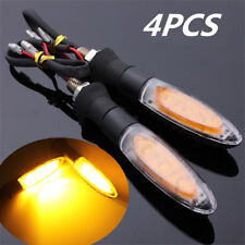 4x LED Amber Motorcycle Indicator Lamp Front & Rear Turn Signal Light 10mm Screw