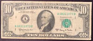 1963 A TEN DOLLAR FEDERAL RESERVE NOTE