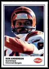 1981 Kellogg's Ken Anderson RARE ODDBALL Cincinnati Bengals