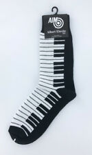 Women's Piano Keyboard Socks, Black and White Piano Keys Fun Music Theme Socks