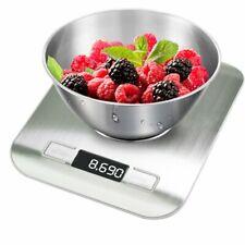 Digital Küchenwaage Feinwaage 5KG/1g Edelstahl Kitchen Scale LCD Haushaltswaage