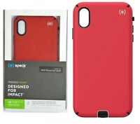 Speck Presidio Sport Case Cover for Apple iPhone XS Max Black Heartrate Red
