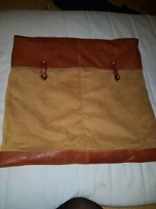 Tan And Leather Cover And Cushion, Used