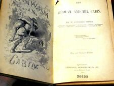 Rare 1890 Indians Legends Wigwam Cabin Slavery American History Antique Book