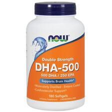 Now Foods, DHA-500, Doppelte Stärke, 180 Softgelkapseln