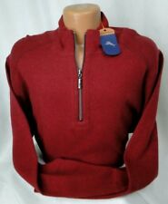 Tommy Bahama Reversible Half Zip in Flare Heather MSRP $120 NWT COOL! - sz XLT