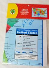 """United States Map Wall Poster 40 X 28"""" Education Home School Kids Learning Maps"""