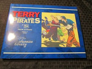 1992 TERRY And The PIRATES Color Sundays v. 6 HC/DJ NM/VF+ Milton Caniff 112pgs