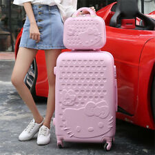 "20"" + 14"" Hello Kitty Luggage Suitcase Bag Trolley Travel Case Trip Wheel Pink"