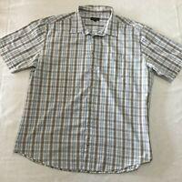 Colorado Men's Plus Size Short Sleeve Shirt Blue Black & White Check  Size XXL