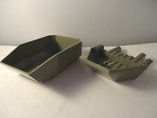 LEGO PARTS 30300 AND 3029 DARK GREY TIPPER BED AND COCKPIT
