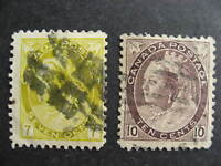 Canada QV 7c, 10c used Sc 81, 83, please see pictures!