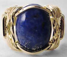 Lapis Lazuli Ring 14k Gold gf Mens or Ladies Blue Mini