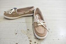 Keds Glimmer Linen Comfort Boat Shoes, Women's Size 5.5 M, Walnut MSRP $55