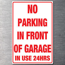 No Parking in front of garage sticker Premium water & fade proof 7 year vinyl