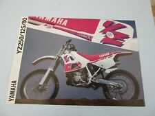 Yamaha YZ250 YZ125 YZ80 1991 Dealer brochure