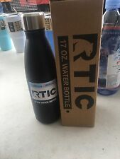~ IN STOCK ~ NIB RTIC 17 oz BLACK Rambler ~ Double Insulated SWELL Bottle ~ NEW