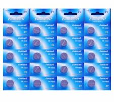 20 X EUNICEL CR1632 DL1632 KL1632 BR1632 L1632 LITHIUM COIN/BUTTON CELL BATTERY