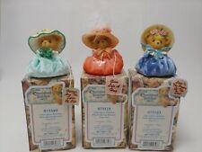 New Listing(3) Enesco Cherished Teddies Spring Bonnet Bears #873349, 873373, 873403 (2001)