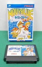 NES - NAVY BLUE - Fake boxed. naval battle. Famicom. Japan Game. 11005