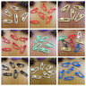 20 x COLOURFUL ACRYLIC SAFETY PINS 23mm x 7mm CRAFTS HABERDASHERY UK SELLER