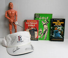 TPC Arnold Palmer Lee Trevino Chi Chi Rodriguez  Autographed Cap w/ Doll & Books