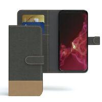 Tasche für Samsung Galaxy S9 Jeans Cover Handy Schutz Hülle Case Anthrazit