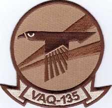 U.S. NAVY PATCH VAQ-135 DESERT TAN COLOR:GA14-1