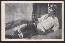 Postcard MOBRIDGE South Dakota/SD  Native American Indian w/Peace Pipe 1930's?