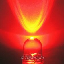 100 PCs 10mm 40° 1W Watt 660nm Red LED 300mA 240,000mcd