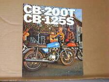 1976 Honda CB200 T CB125 S Sales Brochure (White Letters) - Literature