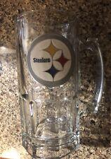 Pittsburg Steelers Huge 32 oz King Size Heavy Glass Beer Stein Mug