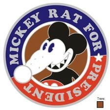 MICKEY RAT FOR PRESIDENT - RARE LIMITED EDITION PATHTAG w/ trans NEW