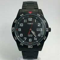 Timex Mens PW2P61600 Black Expansion Indiglo Date Indicator Analog Wristwatch