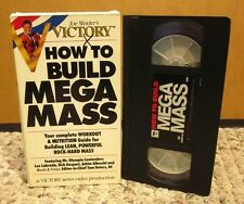 HOW TO BUILD MEGA MASS Joe Weider bodybuilding VHS weight-lifting Mr. Olympia