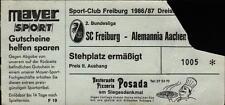 Ticket II. BL 86/87 SC Freiburg - Alemannia Aachen