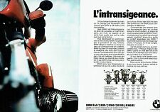 PUBLICITE ADVERTISING 027  1978  Moto moto BMW  R60 R 80 R100 ( 2 pages)
