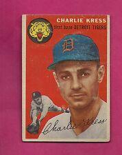 1954 TOPPS # 219 TIGERS CHARLIE KRESS VG+ CARD (INV# A3631)