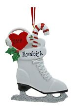 PERSONALIZED Ice Skaters Stocking Sports Christmas Tree Ornament Holiday Gift