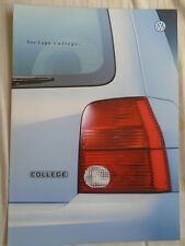VW Lupo College brochure Jun 2000 German text
