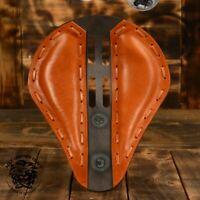"Bobber Chopper Custom selle siège solo moto ""4fourth buffle cognac"" XS/1"