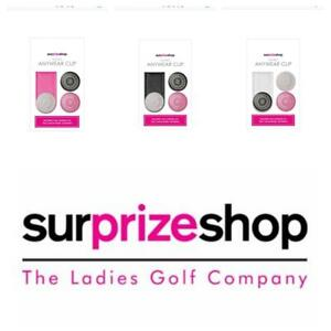Surprizeshop Ladies Golf Ball Marker Magnetic Anywear Clip. Pink, White or Navy