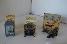 Pencil Sharpener Lot of 3 Miniature Die-Cast Metal Lot4 Airplane Safe Stove