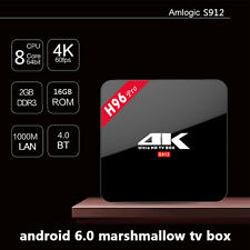 Android 6.0 2G 16G H96 PRO Amlogic S912 BT 4.0 Online Update Double wifi Tv Box