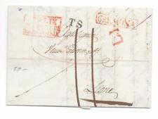 Prefilatelica prephilatelic 1837 da Cremona per Lione