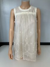 Paul & Joe Paris New Cream Bnwots Top Sleeveless Size 2 Uk 8 80% Silk