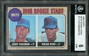 1968 Topps Nolan Ryan #177 Rookie HOF New York Mets BVG 6 EX-MT